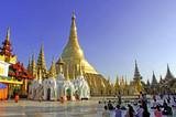 myanmar, yangon: shwedagon pagoda, one of the most impressive pa