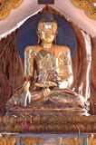 myanmar, yangon: shwedagon pagoda, one of the most impressive pa poster