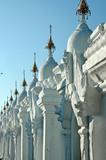myanmar, mandalay: stupas of kuthodaw pagoda poster
