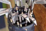golf clubs poster