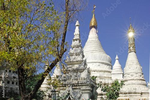 myanmar, mandalay: stupas near kuthodaw pagoda