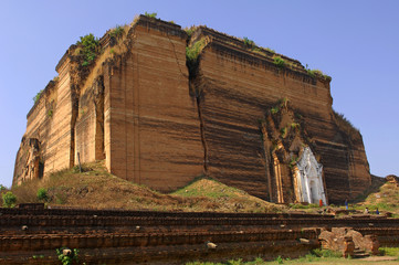 myanmar, mingun, unfinished pagoda