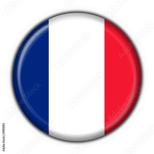 bottone bandiera francese - france flag