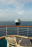beautiful view from cruise ship balcony poster