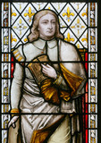 section of stained glass window poster