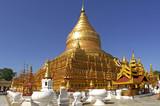myanmar, bagan: shwezigon pagoda poster