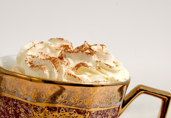 cappuccino with cream