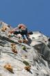 climber climbing on wall