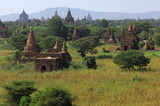 myanmar, bagan: general panorama poster
