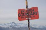 ski area boundary poster
