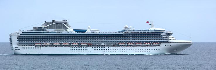 luxury cruise ship panorama