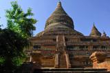 myanmar, bagan: mingalazedi pagoda poster
