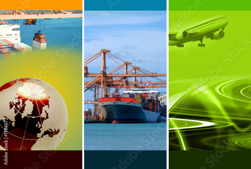 canvas print picture freight logistics