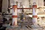 myanmar, bagan: bell in a pagoda poster
