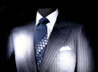 costume d'homme d'affaire sous les projecteurs