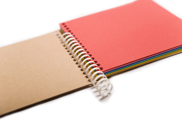 colored spring notebook