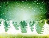 grunge fir forest poster