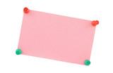 pink paper sheet poster