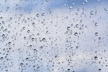 water drops in blue tones