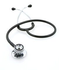 stethoscope on white