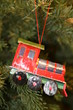 christmas tree ornament locomotive