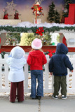 kids at christmas display poster