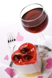 red wine with dessert poster
