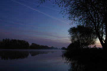 canal side at dawn