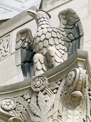eagle statue on building