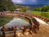 a scenery park in lijiang china poster