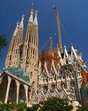 the sagrada familia church in barcelona poster