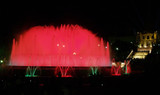 montjuic (magic) fountain in barcelona at night poster