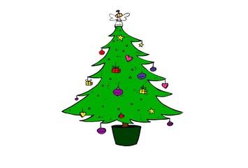 christmas tree. house decoration