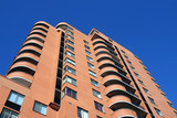 looking up at apartment building poster