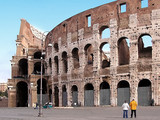 visiting the colosseum poster