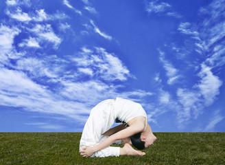 yoga in sky