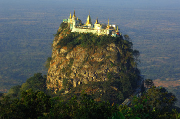 myanmar, moutain popa
