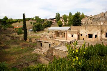italian town pompeii view on ruins #3