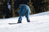snowboarder on race