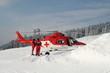 rettungseinsatz mit hubschrauber im winter - 2001415