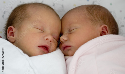 canvas print picture twin angels -color