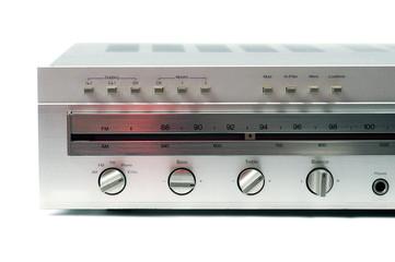 silver analog receiver