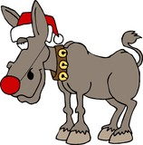 rudolf the red nosed donkey poster