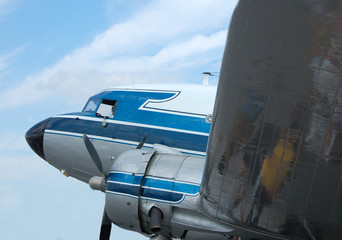 classic vintage airliner