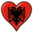 bottone cuore albanese - albania heart flag
