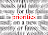 focus on the priorities poster