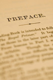 page in old book with shallow depth of field poster