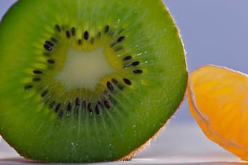 clémentines et kiwi