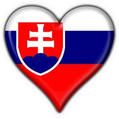 bottone cuore slovacco - slovakia heart flag