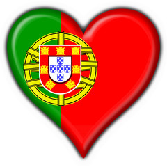bottone cuore portoghese - portugal heart flag